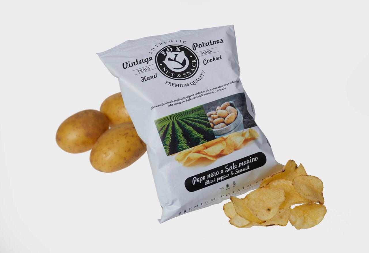 Chips og brushetta
